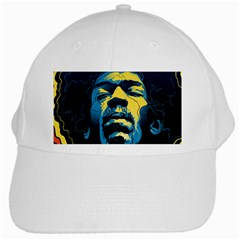 Gabz Jimi Hendrix Voodoo Child Poster Release From Dark Hall Mansion White Cap by Onesevenart