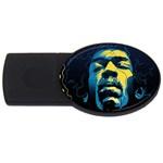 Gabz Jimi Hendrix Voodoo Child Poster Release From Dark Hall Mansion USB Flash Drive Oval (2 GB)