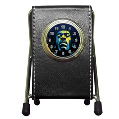 Gabz Jimi Hendrix Voodoo Child Poster Release From Dark Hall Mansion Pen Holder Desk Clocks by Onesevenart