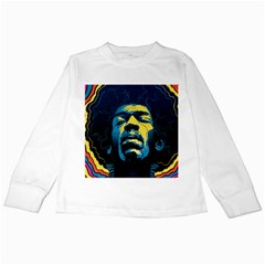 Gabz Jimi Hendrix Voodoo Child Poster Release From Dark Hall Mansion Kids Long Sleeve T Shirts by Onesevenart