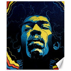 Gabz Jimi Hendrix Voodoo Child Poster Release From Dark Hall Mansion Canvas 8  X 10  by Onesevenart