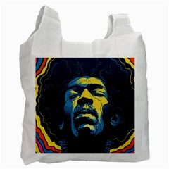 Gabz Jimi Hendrix Voodoo Child Poster Release From Dark Hall Mansion Recycle Bag (one Side) by Onesevenart