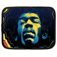 Gabz Jimi Hendrix Voodoo Child Poster Release From Dark Hall Mansion Netbook Case (xxl)  by Onesevenart