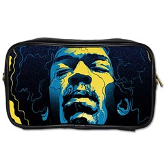 Gabz Jimi Hendrix Voodoo Child Poster Release From Dark Hall Mansion Toiletries Bags by Onesevenart