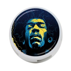 Gabz Jimi Hendrix Voodoo Child Poster Release From Dark Hall Mansion 4 Port Usb Hub (two Sides)  by Onesevenart