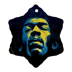 Gabz Jimi Hendrix Voodoo Child Poster Release From Dark Hall Mansion Snowflake Ornament (two Sides) by Onesevenart