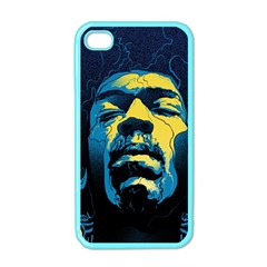 Gabz Jimi Hendrix Voodoo Child Poster Release From Dark Hall Mansion Apple Iphone 4 Case (color) by Onesevenart