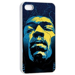 Gabz Jimi Hendrix Voodoo Child Poster Release From Dark Hall Mansion Apple Iphone 4/4s Seamless Case (white) by Onesevenart