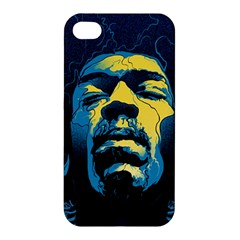 Gabz Jimi Hendrix Voodoo Child Poster Release From Dark Hall Mansion Apple Iphone 4/4s Hardshell Case by Onesevenart