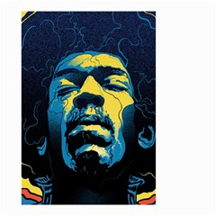 Gabz Jimi Hendrix Voodoo Child Poster Release From Dark Hall Mansion Small Garden Flag (two Sides) by Onesevenart