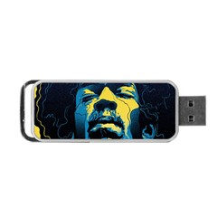 Gabz Jimi Hendrix Voodoo Child Poster Release From Dark Hall Mansion Portable Usb Flash (one Side) by Onesevenart