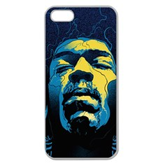 Gabz Jimi Hendrix Voodoo Child Poster Release From Dark Hall Mansion Apple Seamless Iphone 5 Case (clear) by Onesevenart