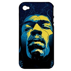 Gabz Jimi Hendrix Voodoo Child Poster Release From Dark Hall Mansion Apple Iphone 4/4s Hardshell Case (pc+silicone) by Onesevenart