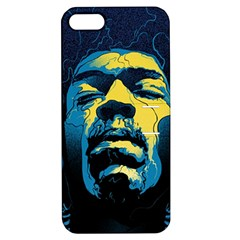 Gabz Jimi Hendrix Voodoo Child Poster Release From Dark Hall Mansion Apple Iphone 5 Hardshell Case With Stand by Onesevenart