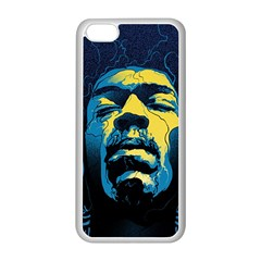 Gabz Jimi Hendrix Voodoo Child Poster Release From Dark Hall Mansion Apple Iphone 5c Seamless Case (white) by Onesevenart