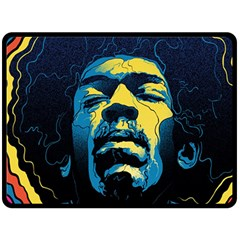 Gabz Jimi Hendrix Voodoo Child Poster Release From Dark Hall Mansion Double Sided Fleece Blanket (large)  by Onesevenart