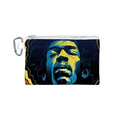 Gabz Jimi Hendrix Voodoo Child Poster Release From Dark Hall Mansion Canvas Cosmetic Bag (s) by Onesevenart