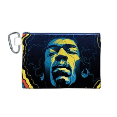 Gabz Jimi Hendrix Voodoo Child Poster Release From Dark Hall Mansion Canvas Cosmetic Bag (m) by Onesevenart