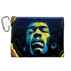 Gabz Jimi Hendrix Voodoo Child Poster Release From Dark Hall Mansion Canvas Cosmetic Bag (xl) by Onesevenart
