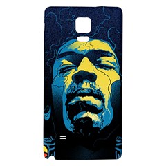 Gabz Jimi Hendrix Voodoo Child Poster Release From Dark Hall Mansion Galaxy Note 4 Back Case by Onesevenart