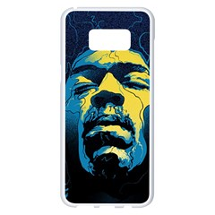 Gabz Jimi Hendrix Voodoo Child Poster Release From Dark Hall Mansion Samsung Galaxy S8 Plus White Seamless Case by Onesevenart
