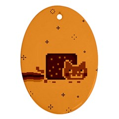 Nyan Cat Vintage Ornament (oval) by Onesevenart