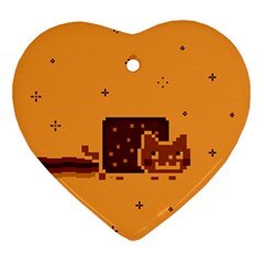 Nyan Cat Vintage Ornament (heart) by Onesevenart
