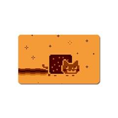 Nyan Cat Vintage Magnet (name Card) by Onesevenart