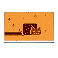 Nyan Cat Vintage Business Card Holders by Onesevenart