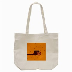 Nyan Cat Vintage Tote Bag (cream) by Onesevenart