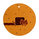 Nyan Cat Vintage Round Ornament (Two Sides)