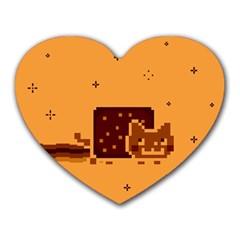 Nyan Cat Vintage Heart Mousepads by Onesevenart