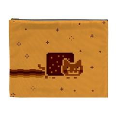Nyan Cat Vintage Cosmetic Bag (xl) by Onesevenart