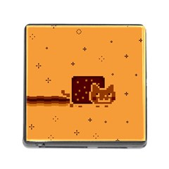 Nyan Cat Vintage Memory Card Reader (square) by Onesevenart