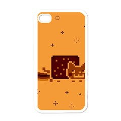 Nyan Cat Vintage Apple Iphone 4 Case (white) by Onesevenart