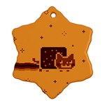 Nyan Cat Vintage Snowflake Ornament (Two Sides)