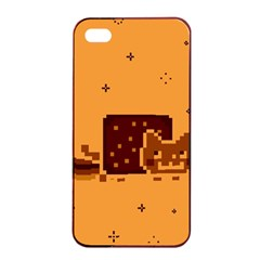 Nyan Cat Vintage Apple Iphone 4/4s Seamless Case (black) by Onesevenart