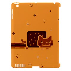 Nyan Cat Vintage Apple Ipad 3/4 Hardshell Case (compatible With Smart Cover) by Onesevenart
