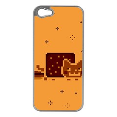 Nyan Cat Vintage Apple Iphone 5 Case (silver) by Onesevenart