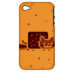 Nyan Cat Vintage Apple Iphone 4/4s Hardshell Case (pc+silicone) by Onesevenart