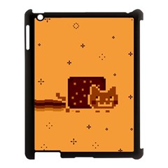 Nyan Cat Vintage Apple Ipad 3/4 Case (black) by Onesevenart