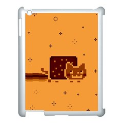 Nyan Cat Vintage Apple Ipad 3/4 Case (white) by Onesevenart