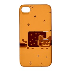 Nyan Cat Vintage Apple Iphone 4/4s Hardshell Case With Stand by Onesevenart