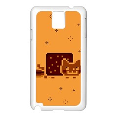 Nyan Cat Vintage Samsung Galaxy Note 3 N9005 Case (white) by Onesevenart