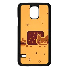 Nyan Cat Vintage Samsung Galaxy S5 Case (black) by Onesevenart