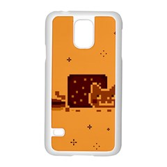 Nyan Cat Vintage Samsung Galaxy S5 Case (white) by Onesevenart