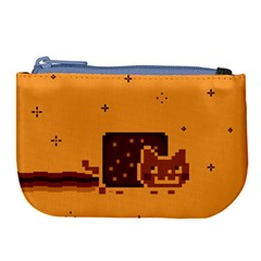 Nyan Cat Vintage Large Coin Purse by Onesevenart