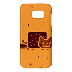 Nyan Cat Vintage Samsung Galaxy S7 Edge Hardshell Case by Onesevenart