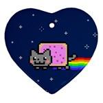 Nyan Cat Ornament (Heart)