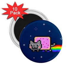 Nyan Cat 2 25  Magnets (10 Pack)  by Onesevenart